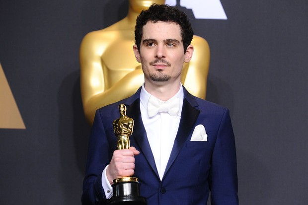 HOLLYWOOD, CA - FEBRUARY 26:  Director Damien Chazelle poses in the press room at the 89th annual Academy Awards at Hollywood & Highland Center on February 26, 2017 in Hollywood, California.  (Photo by Jason LaVeris/FilmMagic)