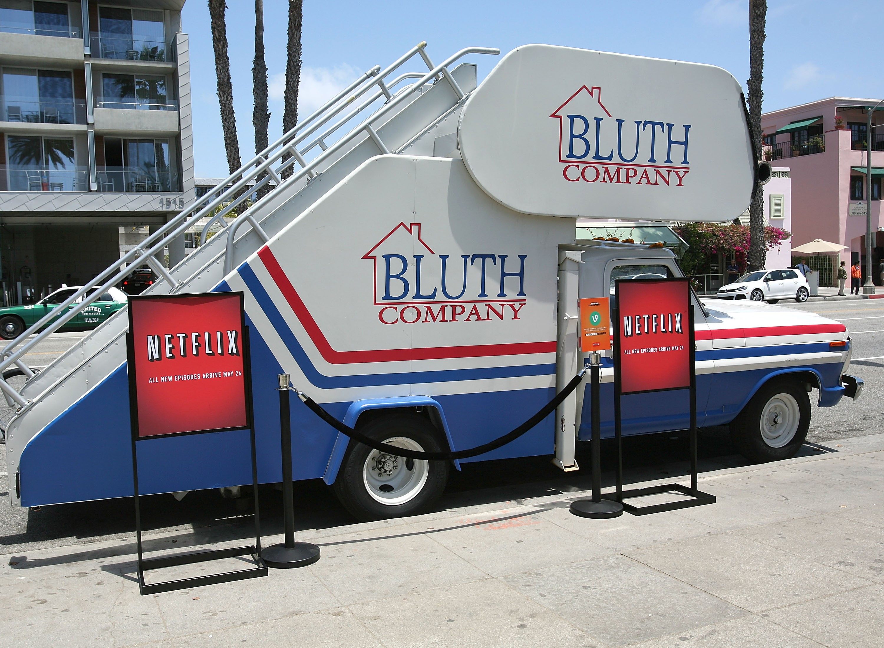 """SANTA MONICA, CA - MAY 19:  General atmosphere at """"Arrested Development"""" Bluth Stair Car at Santa Monica Pier on May 19, 2013 in Santa Monica, California.  (Photo by Maury Phillips/Getty Images for Netflix)"""