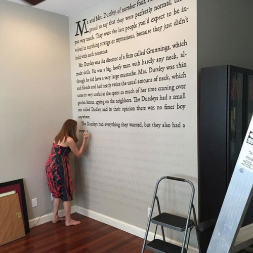 How To Paint Your Walls With Words From Jk Rowling S Harry Potter