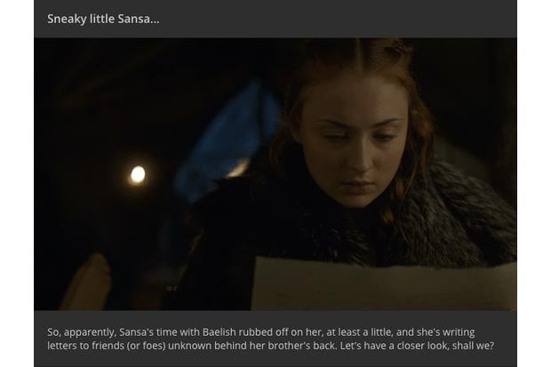 Game of Thrones season 6 episode 7: Who was Sansa writing a letter