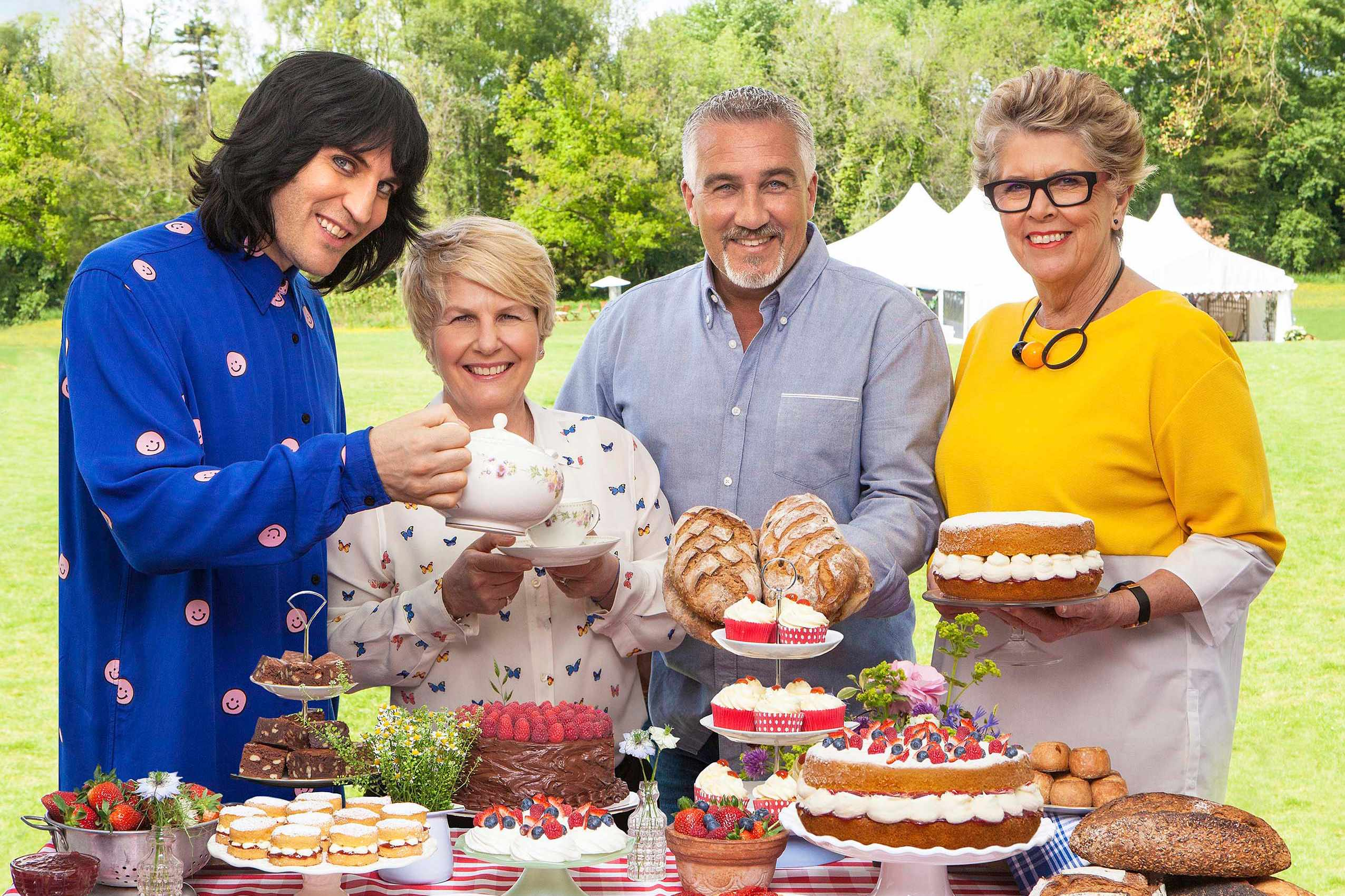 Bake Off tea and cake