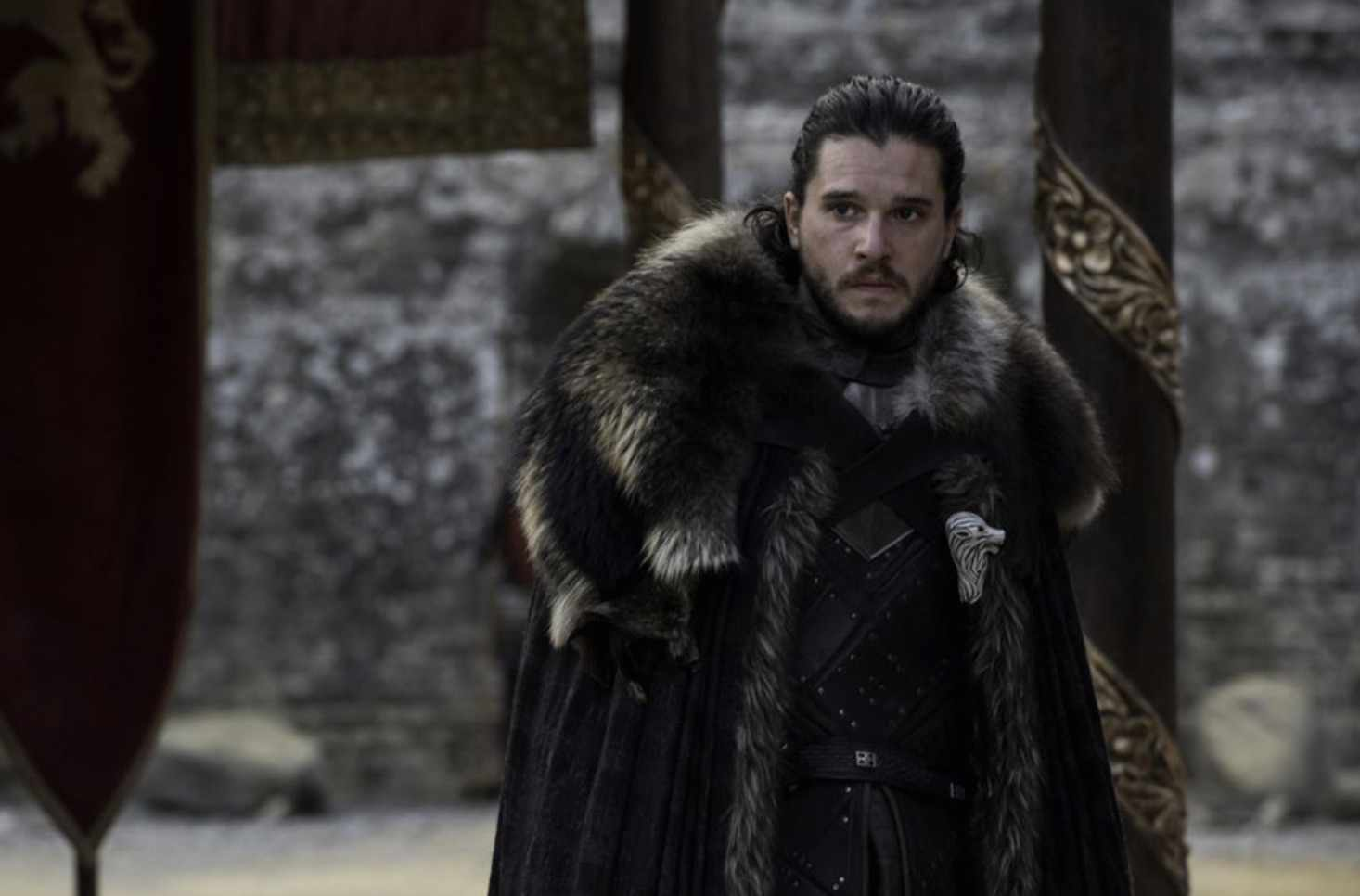 Game of thrones Jon Snow Dragon and the Wolf