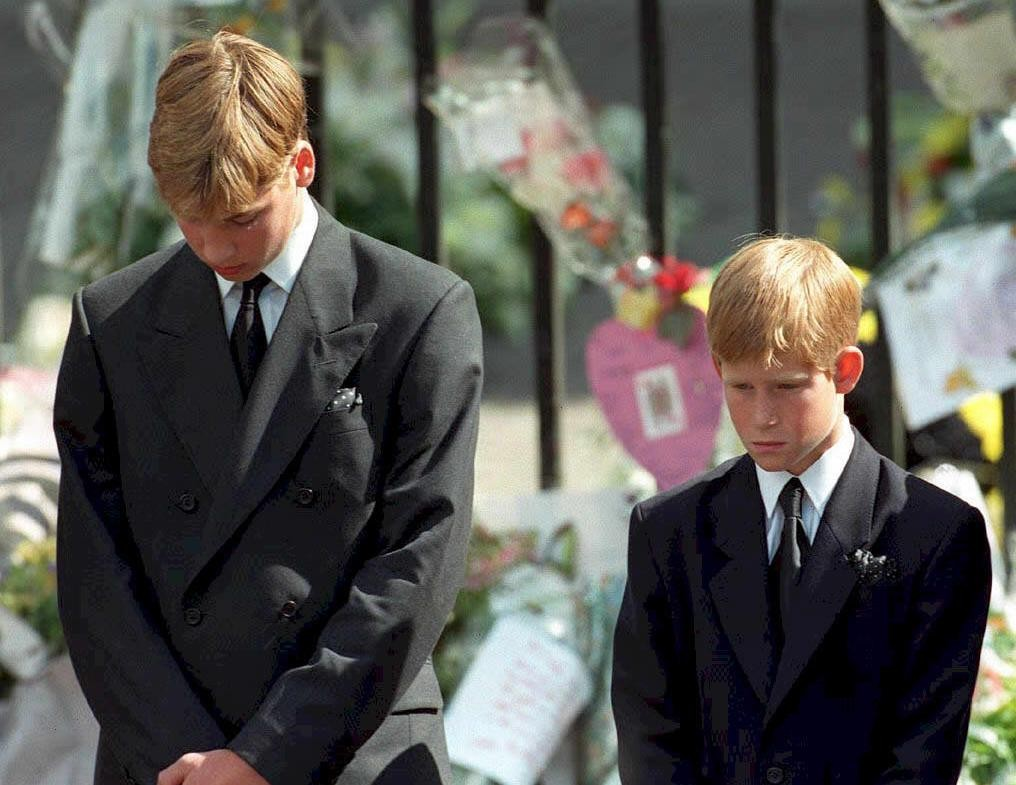 william harry diana funeral