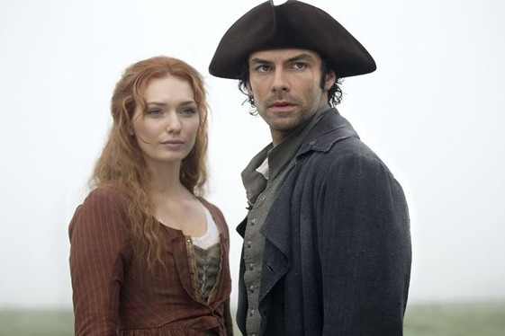 Aiden Turner and Eleanor Tomlinson in Poldark