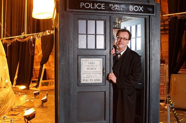 Russell T Davies on the set of Doctor Who