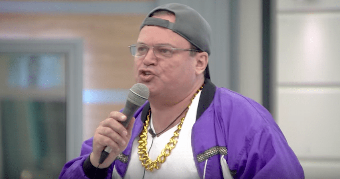 Shaun Williamson rapping on Celebrity Big Brother