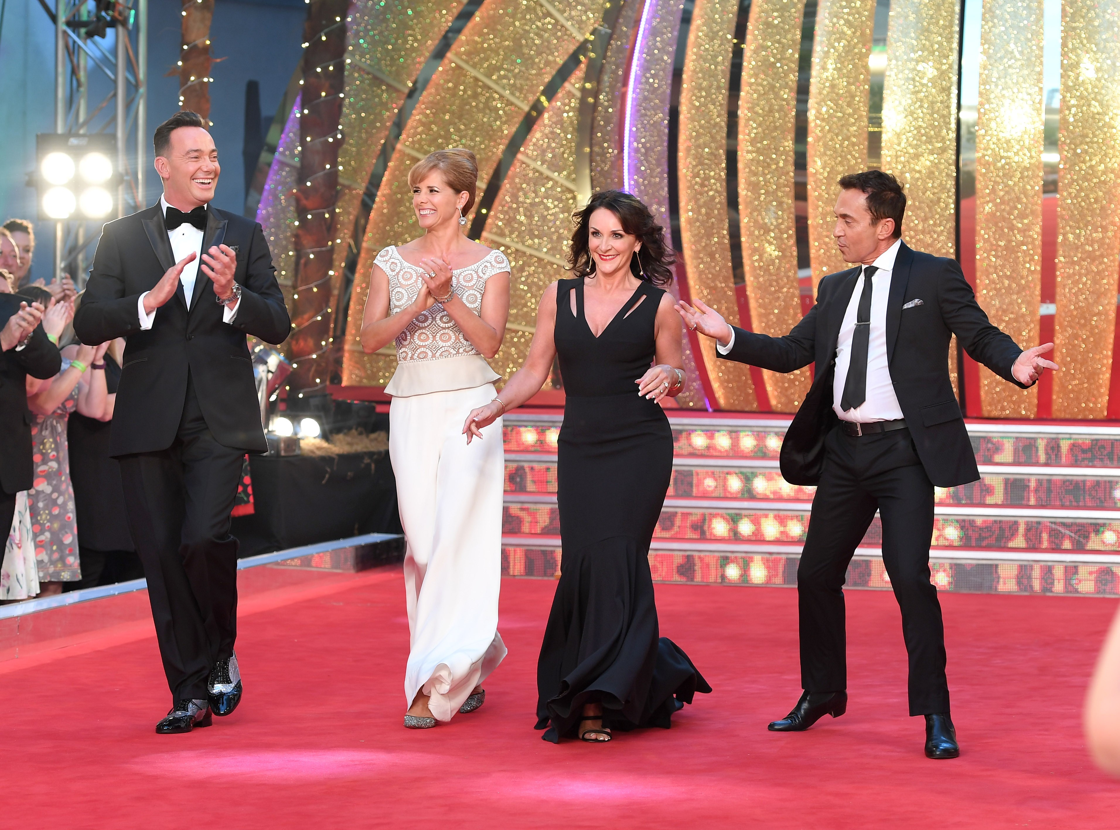 The Strictly Come Dancing judges Craig Revel Horwood, Darcey Bussell, Shirley Ballas and Bruno Tonioli