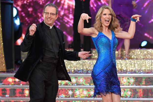 Strictly Come Dancing contestants Reverend Richard Coles and Charlotte Hawkins
