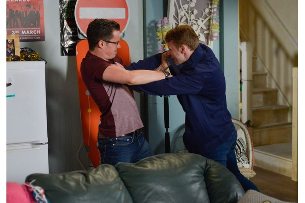 Ben and Jay come to blows on EastEnders