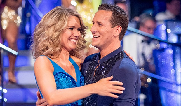 Charlotte Hawkins and Brendan Cole on Strictly Come Dancing
