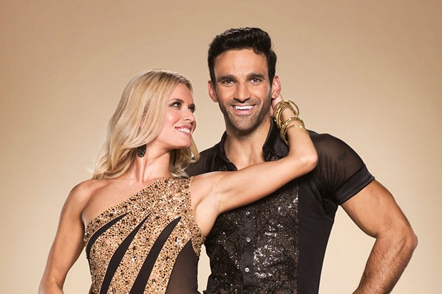 Strictly star Davood Ghadami with his partner Nadiya