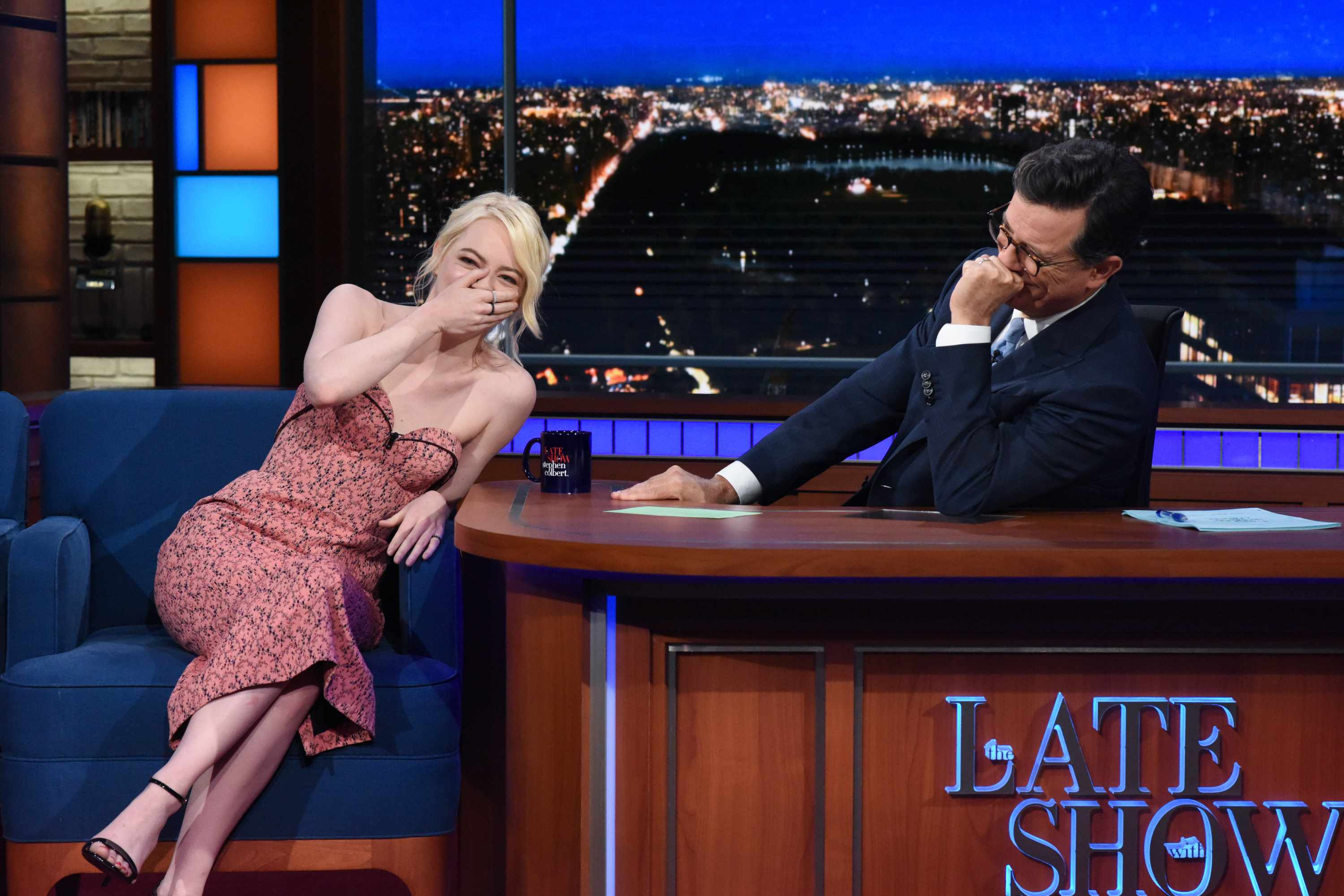Emma Stone on The Late Show with Stephen Colbert