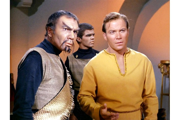 Star Trek Klingon and Captain Kirk
