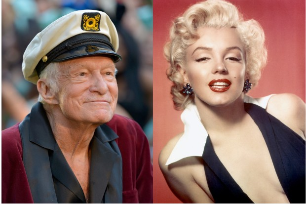 hugh hefner bought the burial plot next to marilyn monroe and a lot