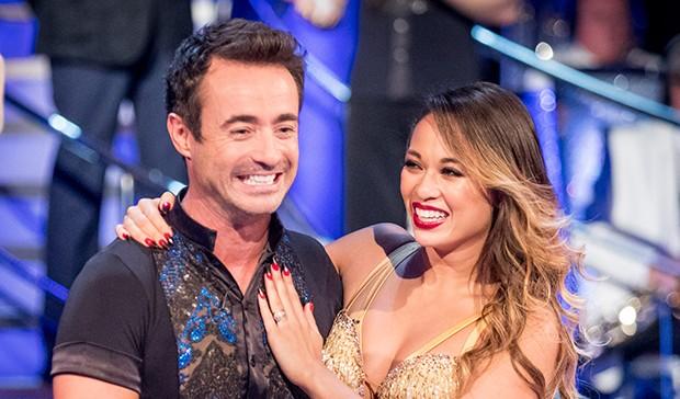 Joe McFadden and Katya Jones on Strictly Come Dancing