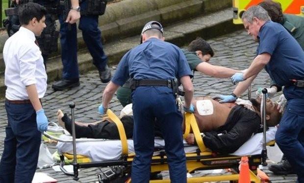 Khalid Masood dying