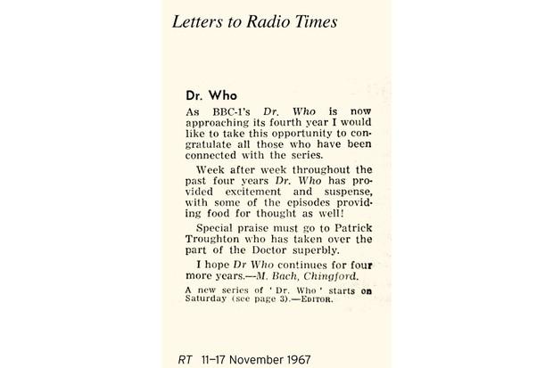 Letter 11-17 Nov 67 DW fou copy