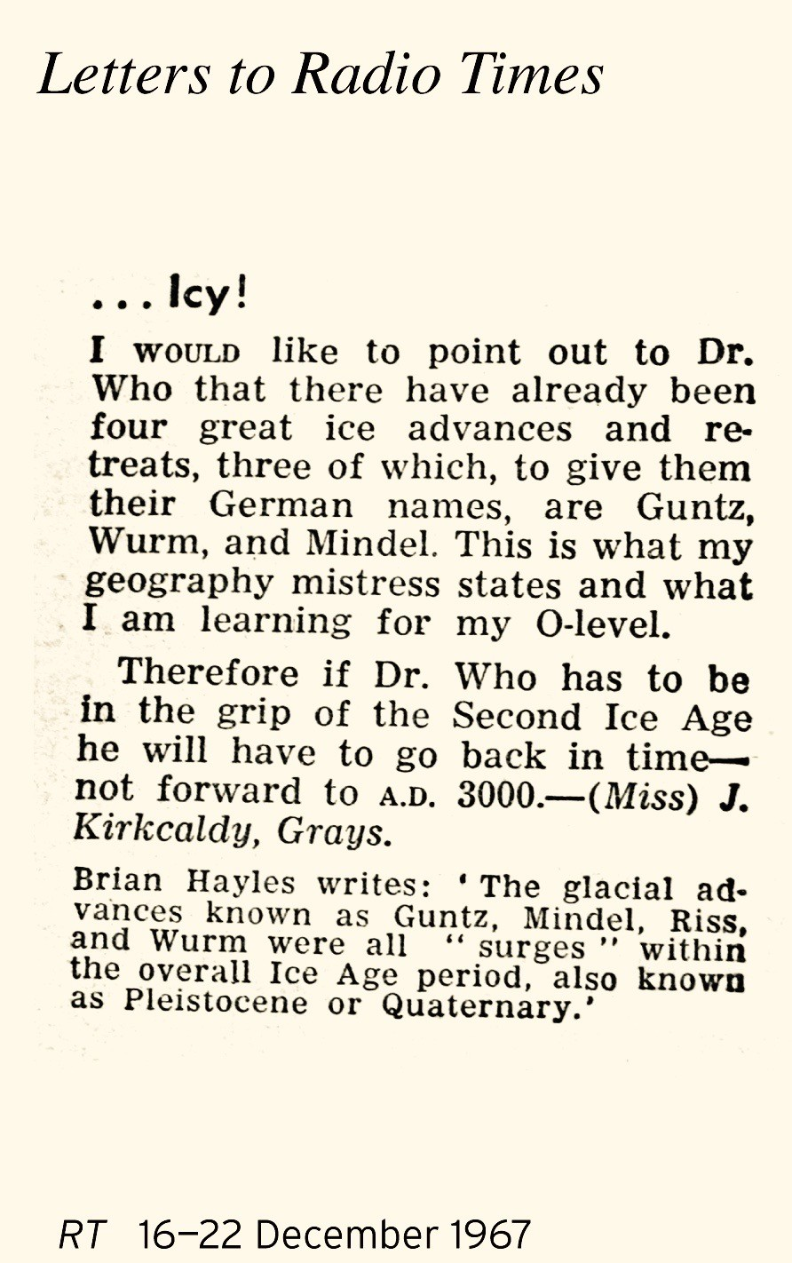 Letter 16-22 Dec 67 Icy! x