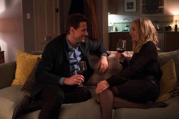 Laura and Andrew on their date in Liar (ITV)