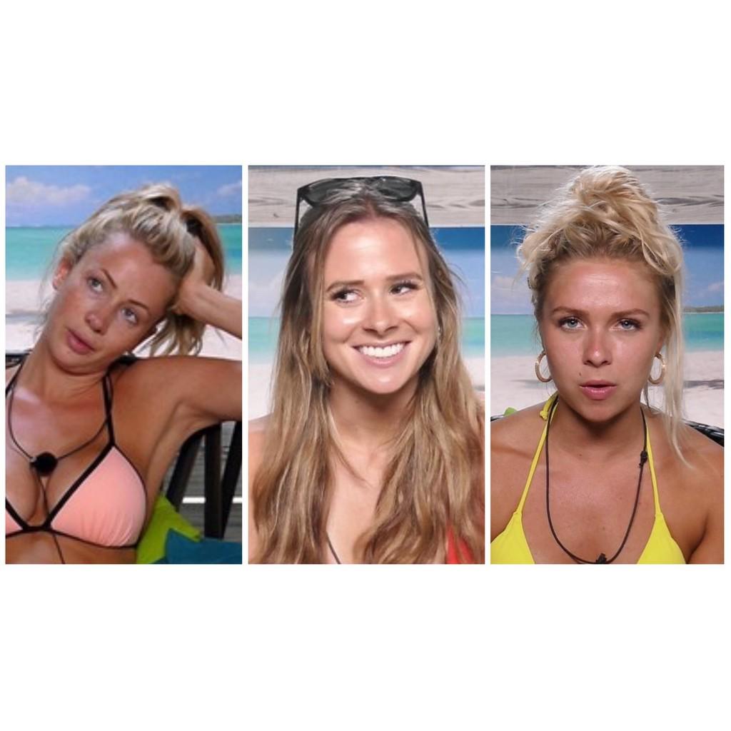 Love Island Liv Attwood, Camilla Thurlow and Gabby Allen