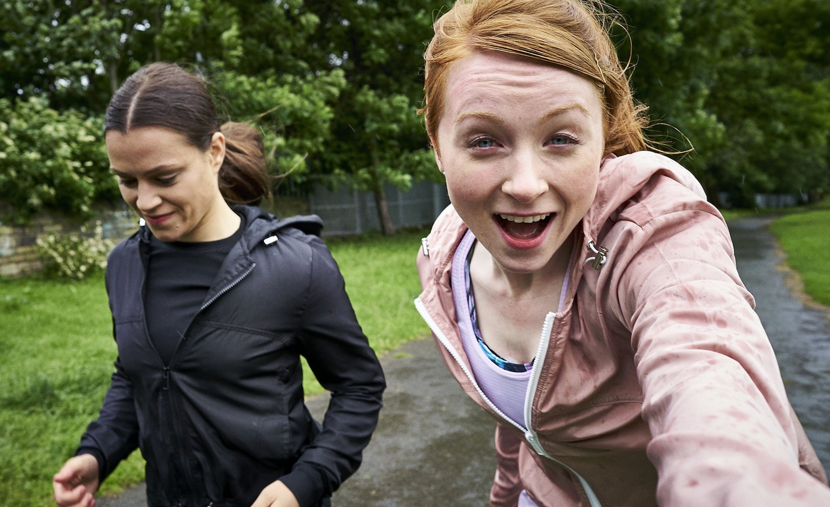 Overshadowed running pic