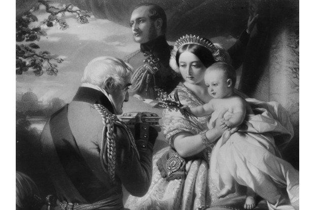 Victoria and Albert with their son Prince Arthur