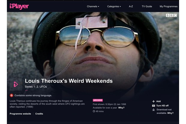 Louis Theroux's Weird Weekends is now available to watch on BBC iPlayer