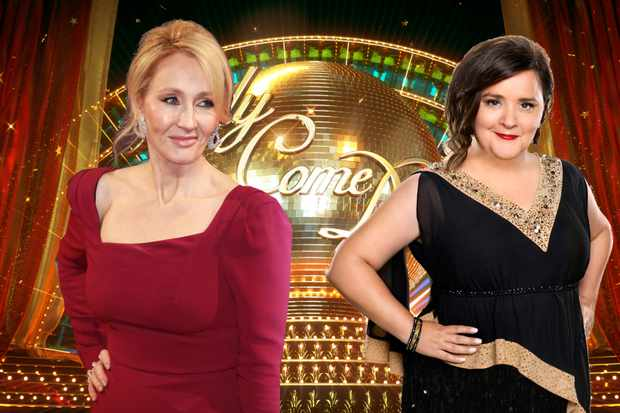 Strictly Susan Calman and JK Rowling
