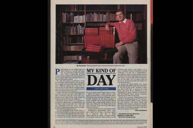 John Motson Radio Times 1990