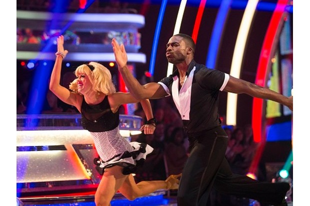 Jo Clifton and Ore Oduba jive to Runaway Baby