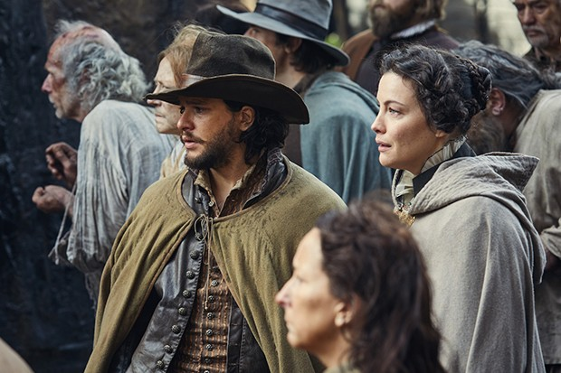 Kit Harington and Liv Tyler in Gunpowder (BBC, HF)
