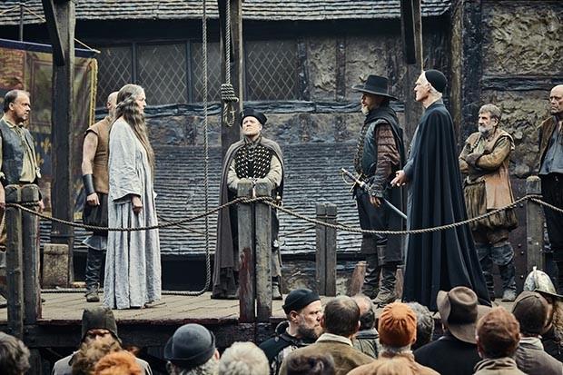 An execution scene from Gunpowder (BBC, HF)