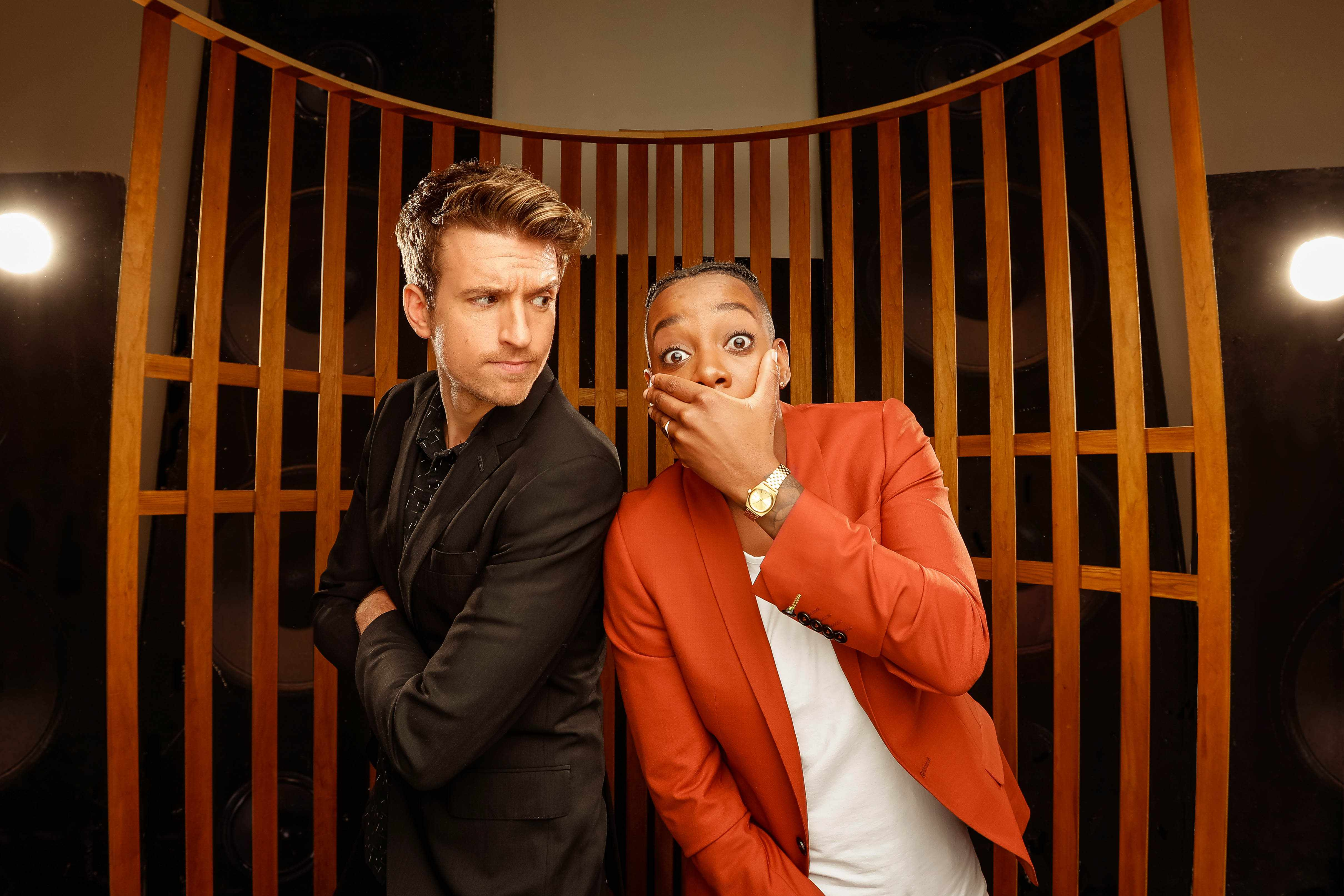 Greg James and Dotty, Sounds Like Friday Night (BBC, EH)