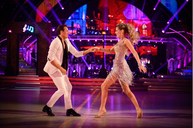 Charlotte Hawkins and Brendan Cole in Strictly Come Dancing