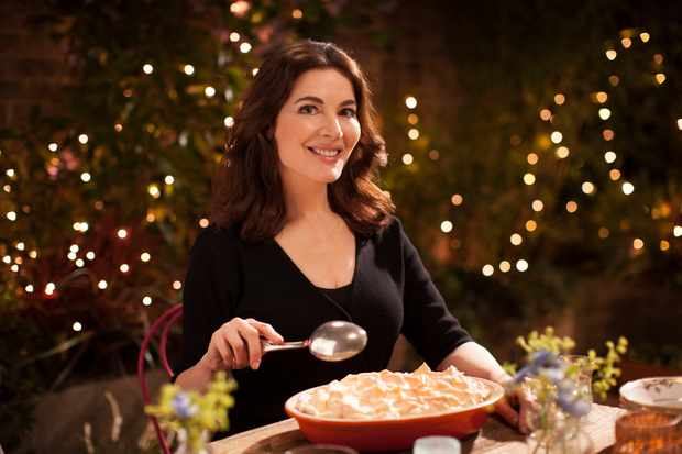 WARNING: Embargoed for publication until 00:00:01 on 24/10/2017 - Programme Name: Nigella: At My Table - TX: n/a - Episode: n/a (No. 1) - Picture Shows:  Nigella Lawson - (C) BBC - Photographer: Robin Fox