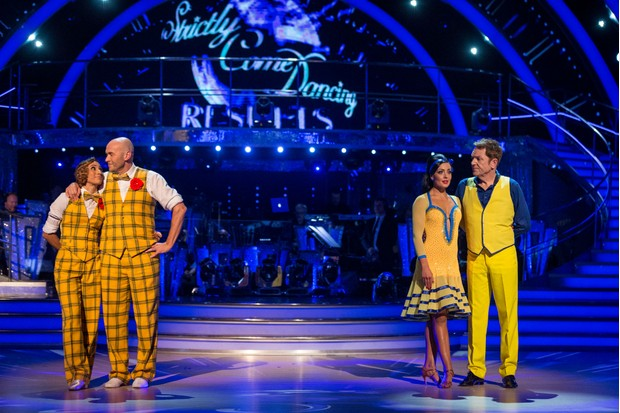 Brian Conley and Simon Rimmer on Strictly Come Dancing 2017