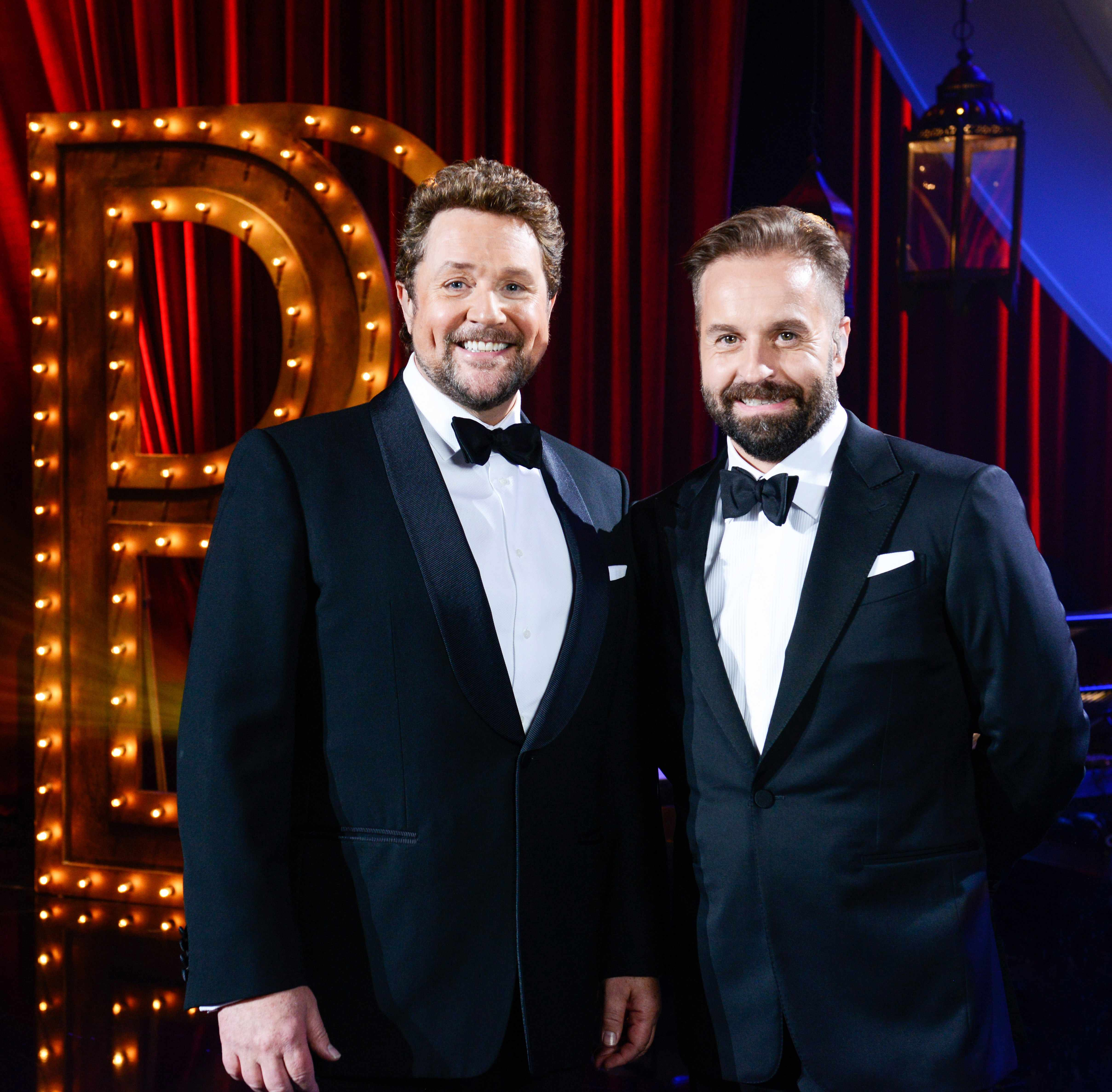 From ITV Studios  Ball & Boe Back Together on ITV  Pictured: Michael Ball and Alfie Boe.  This photograph is (C) ITV Plc and can only be reproduced for editorial purposes directly in connection with the programme or event mentioned above. Once made available by ITV plc Picture Desk, this photograph can be reproduced once only up until the transmission [TX] date and no reproduction fee will be charged. Any subsequent usage may incur a fee. This photograph must not be manipulated [excluding basic cropping] in a manner which alters the visual appearance of the person photographed deemed detrimental or inappropriate by ITV plc Picture Desk.  This photograph must not be syndicated to any other company, publication or website, or permanently archived, without the express written permission of ITV Plc Picture Desk. Full Terms and conditions are available on the website www.itvpictures.co.uk  For further information please contact: james.hilder@itv.com / 0207 157 3052