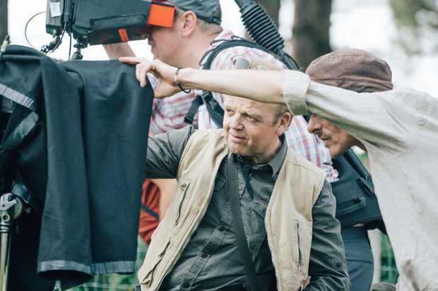 Programme Name: Detectorists series 3 - TX: n/a - Episode: n/a (No. n/a) - Picture Shows: **Behind-the-scenes** Lance (TOBY JONES), Andy (MACKENZIE CROOK) - (C) Channel X - Photographer: Chris Harris