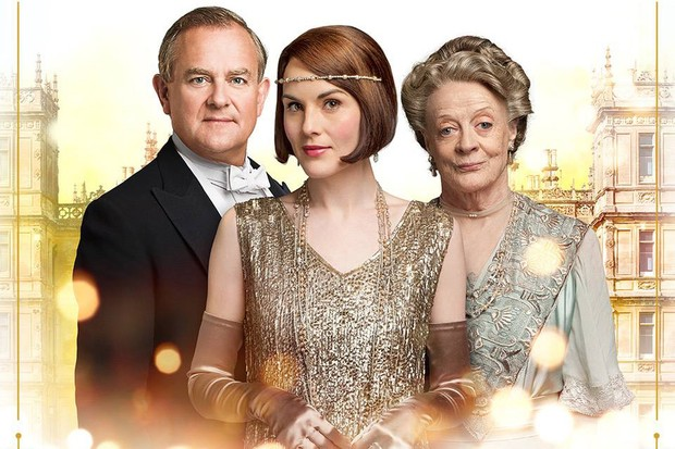 Hugh Bonneville, Michelle Dockery, Maggie Smith in Downton Abbey