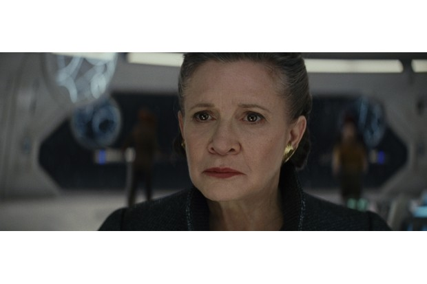 Carrie Fisher as General Organa in Star Wars: The Last Jedi (Lucasfilm, JG)