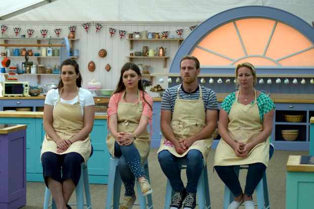 The four semi-final contestants in The Great British Bake Off 2017 (Channel 4, JG)