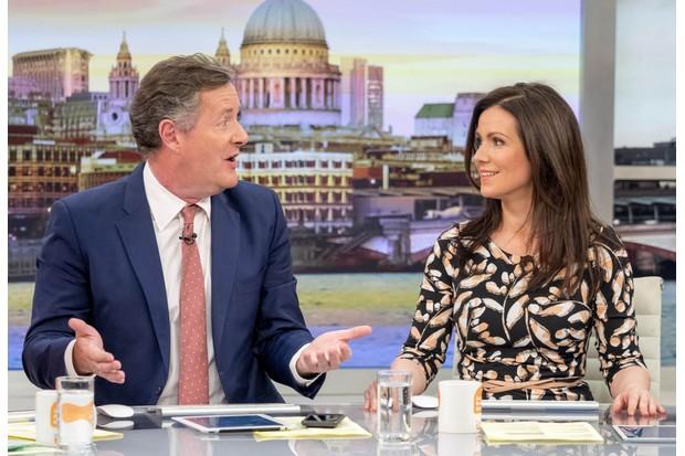 Piers Morgan and Susanna Reid on Good Morning Britain (ITV, JG)