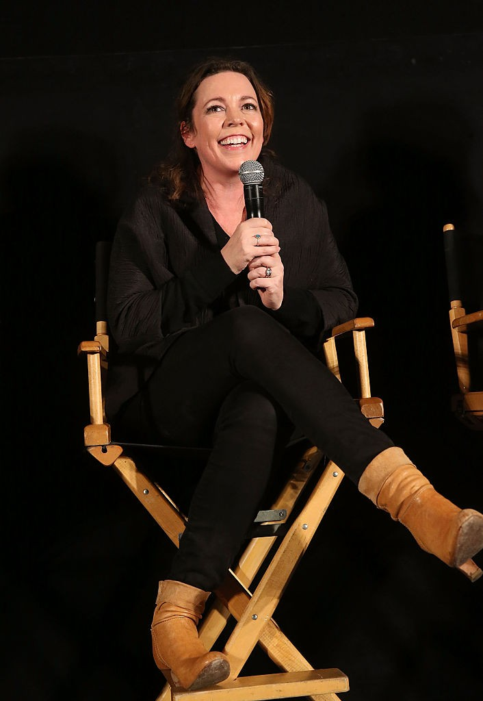 "HOLLYWOOD, CALIFORNIA - APRIL 07:  Actress Olivia Colman attends the ATAS/SAG Panel and Screening of AMC's ""The Night Manager"" at the Egyptian Theater on April 7, 2016 in Los Angeles, California.  (Photo by Jesse Grant/Getty Images for AMC)"