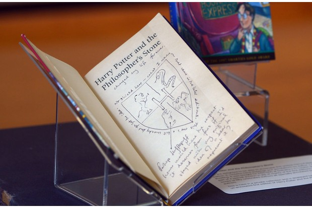 Annotated copy of JK Rowling's Harry Potter and The Philosopher's Stone