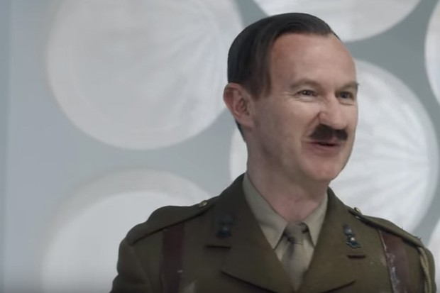 Mark Gatiss as the Captain in the Tardis in the Doctor Who 2017 Christmas special