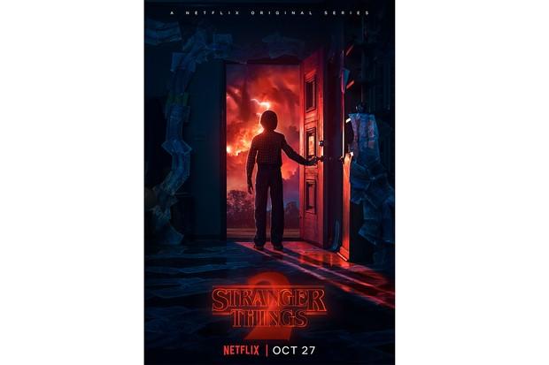 Stranger Things 2 doorway poster (Netflix, JG)