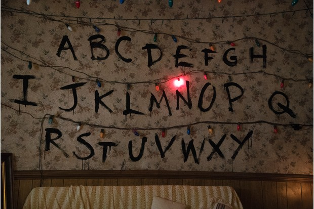 The fairy lights that Will uses to communicate with his mother Joyce Byers in Stranger Things (Netflix, JG)