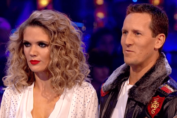 Brendan Cole and Charlotte Hawkins on Strictly Come Dancing