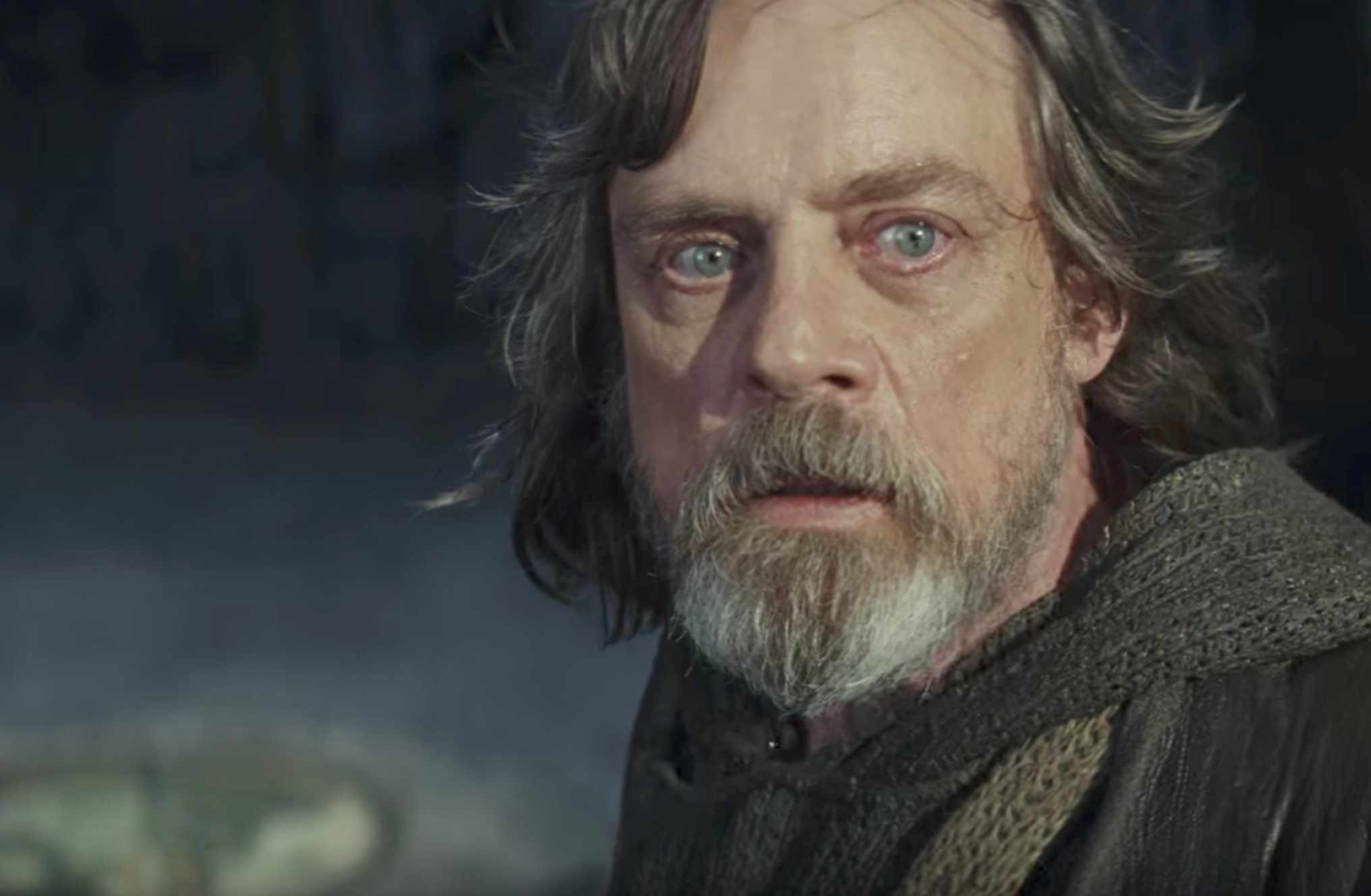 Luke Skywalker in the latest Star Wars: Last Jedi trailer (YouTube, JG)
