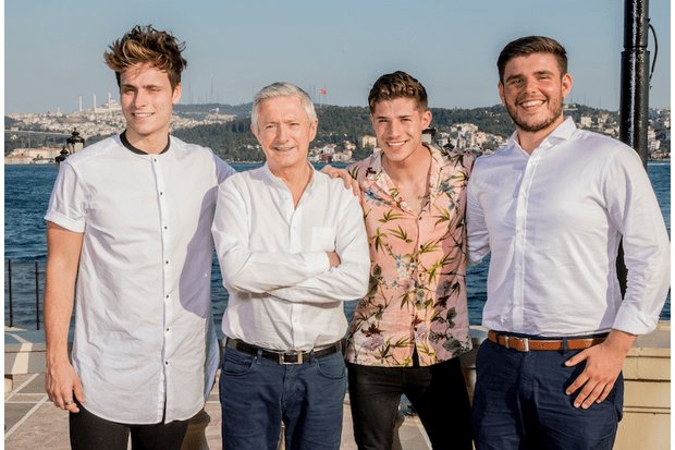Louis Walsh with Spencer Sutherland, Sam Black and Lloyd Macey